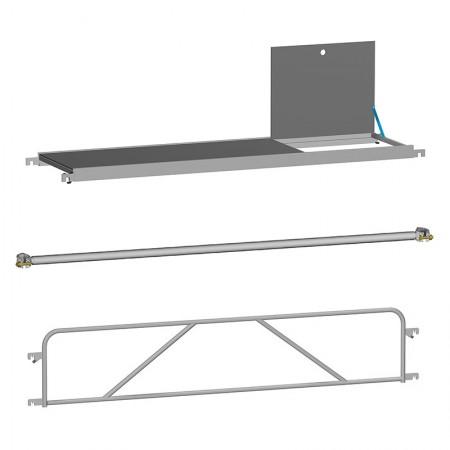 Plattformen, Diagonale, Geländer Fahrgerüste Handwerkerausführung