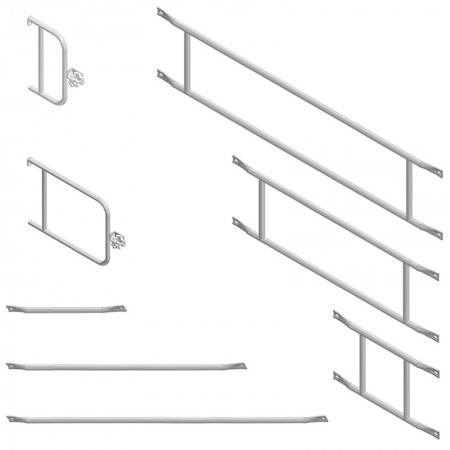 Geländer für Fassadengerüste