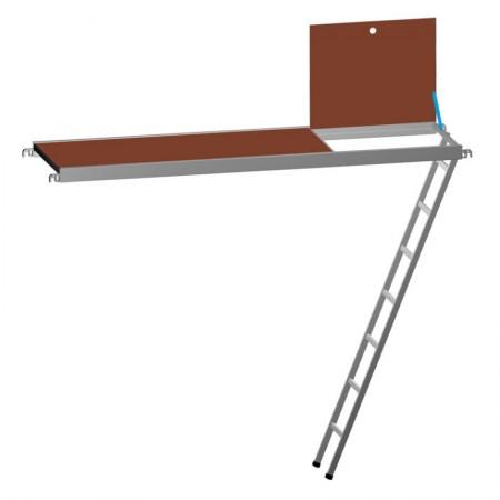 Plattformen 67,5 cm breit Leiter integriert Siebdruckplatte für Fassadengerüste