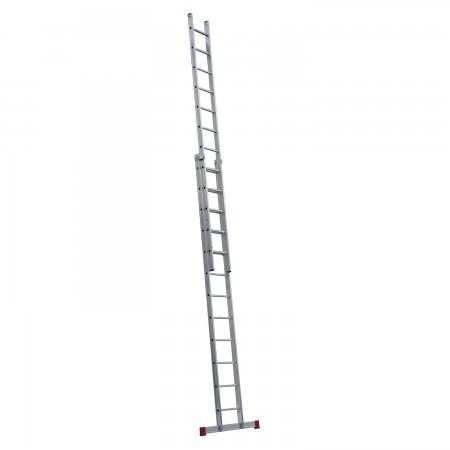 Schiebeleiter Handwerkerausführung 2-teilig, 35/41 cm breit