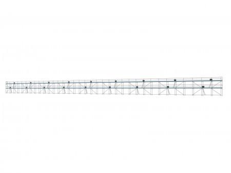 Traufseitengerüst 720 m² - 3,0 m Felder - 120 m lang - 6 m Arbeitshöhe