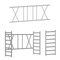 Klappeinheiten, Geländer und Leitern für Klappgerüste