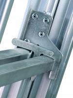 Mehrzweckleiter Industrieausführung 3-teilig, 41/47/53 cm breit mit Aussteifungsstreben an den Leiternteilen