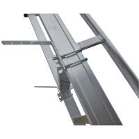 Stufenanlegeleiter 41 cm breit mit Antirutschbelag ohne Traverse