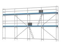 Traufseitengerüst 60 m² - 2,5 m Felder - 10 m lang - 6 m Arbeitshöhe