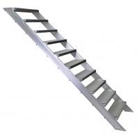 Treppe mit Stahl Gitterrost-Stufen