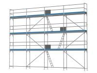 Traufseitengerüst 80 m² - 2,5 m Felder - 10 m lang - 8 m Arbeitshöhe