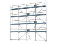 Traufseitengerüst 100 m² - 2,5 m Felder - 10 m lang - 10 m Arbeitshöhe