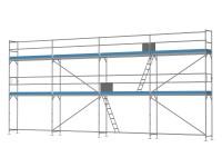 Traufseitengerüst 72 m² - 3,0 m Felder - 12 m lang - 6 m Arbeitshöhe