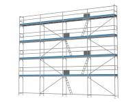 Traufseitengerüst 120 m² - 3,0 m Felder - 12 m lang - 10 m Arbeitshöhe