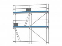 Traufseitengerüst 30 m² - 2,5 m Felder - 5 m lang - 6 m Arbeitshöhe