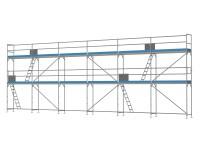 Traufseitengerüst 90 m² - 2,5 m Felder - 15 m lang - 6 m Arbeitshöhe