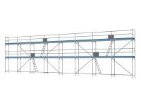 Traufseitengerüst 120 m² - 2,5 m Felder - 20 m lang - 6 m Arbeitshöhe