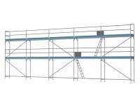 Traufseitengerüst 90 m² - 3,0 m Felder - 15 m lang - 6 m Arbeitshöhe
